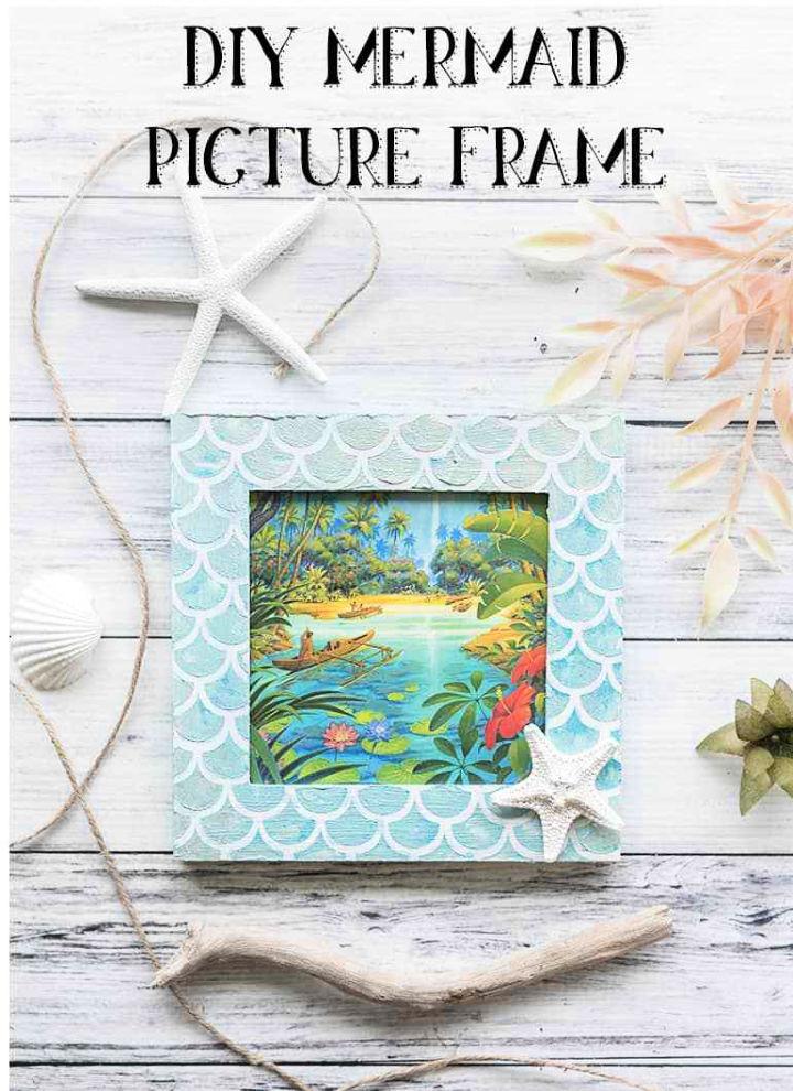 Handmade Mermaid Picture Frame