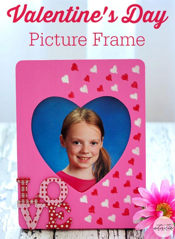 Handmade Valentine's Day Picture Frame