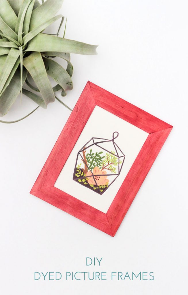 Homemade Dyed Picture Frames