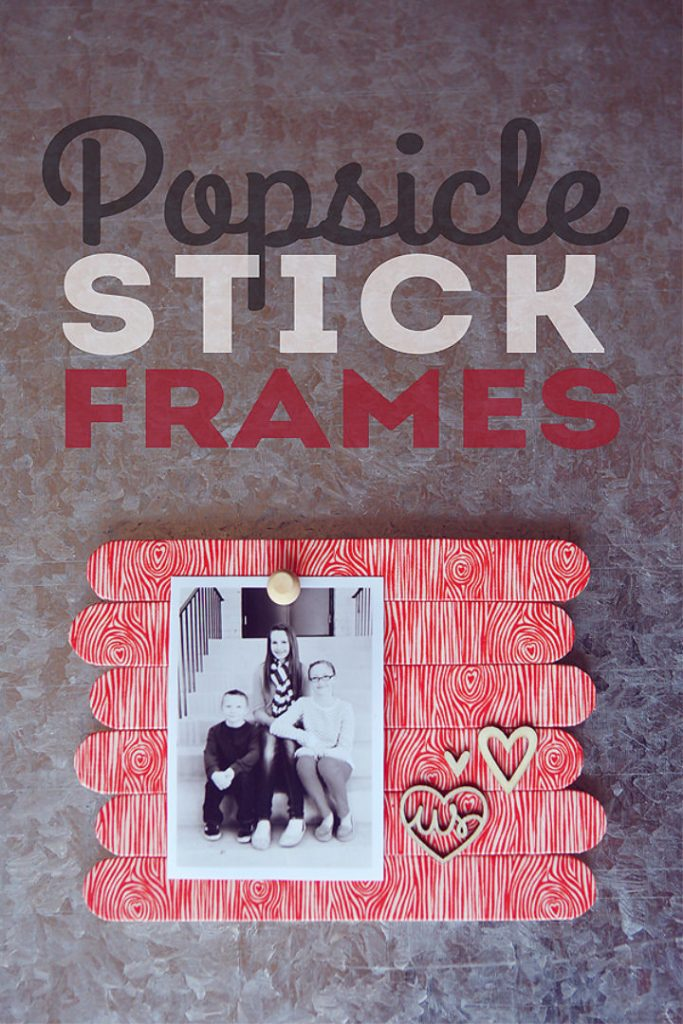 Homemade Popsicle Stick Picture Frames