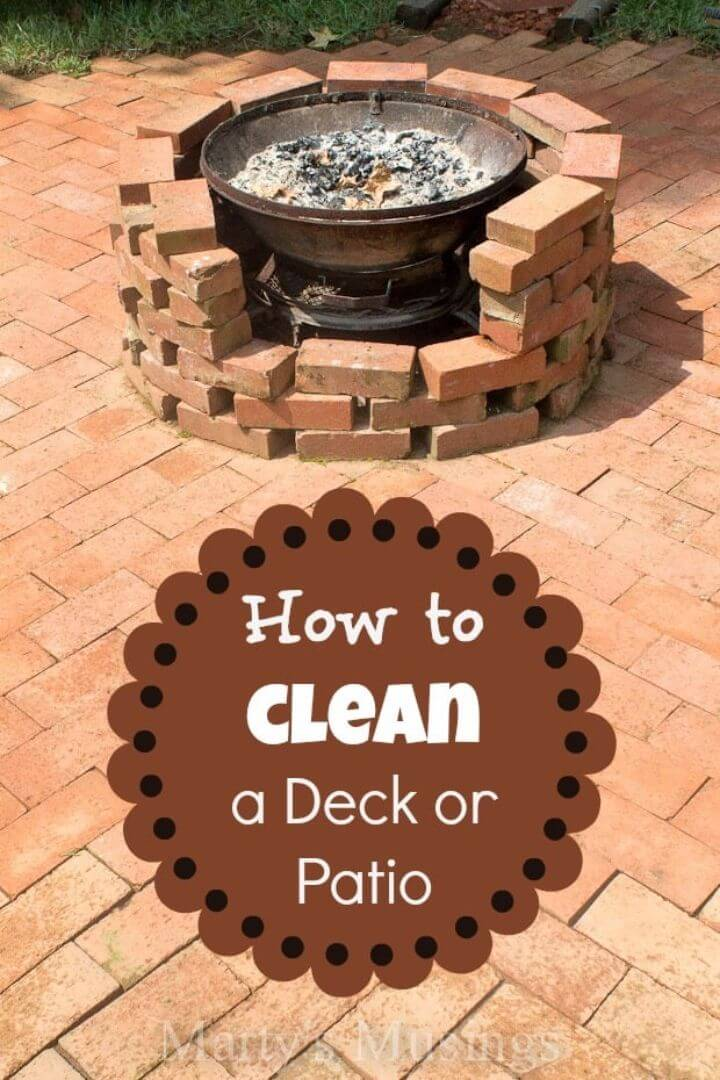 How To Clean a Patio Or Deck