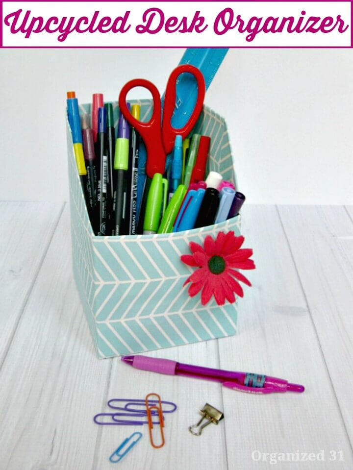 How To Upcycle Desk Organizer