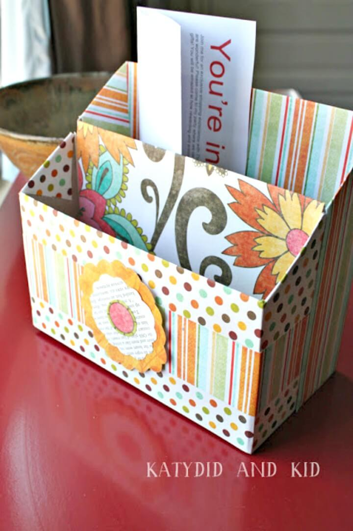 Simple DIY Cereal Box Stationary Desk Organizers