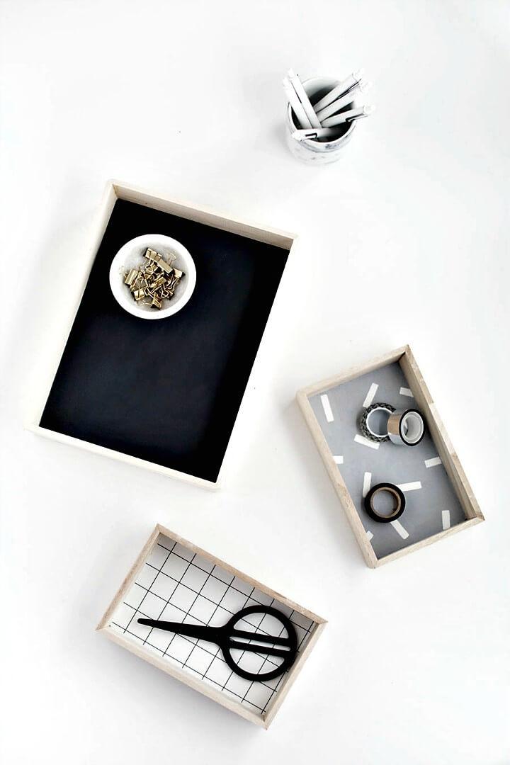 How To DIY Wood Desk Organizers