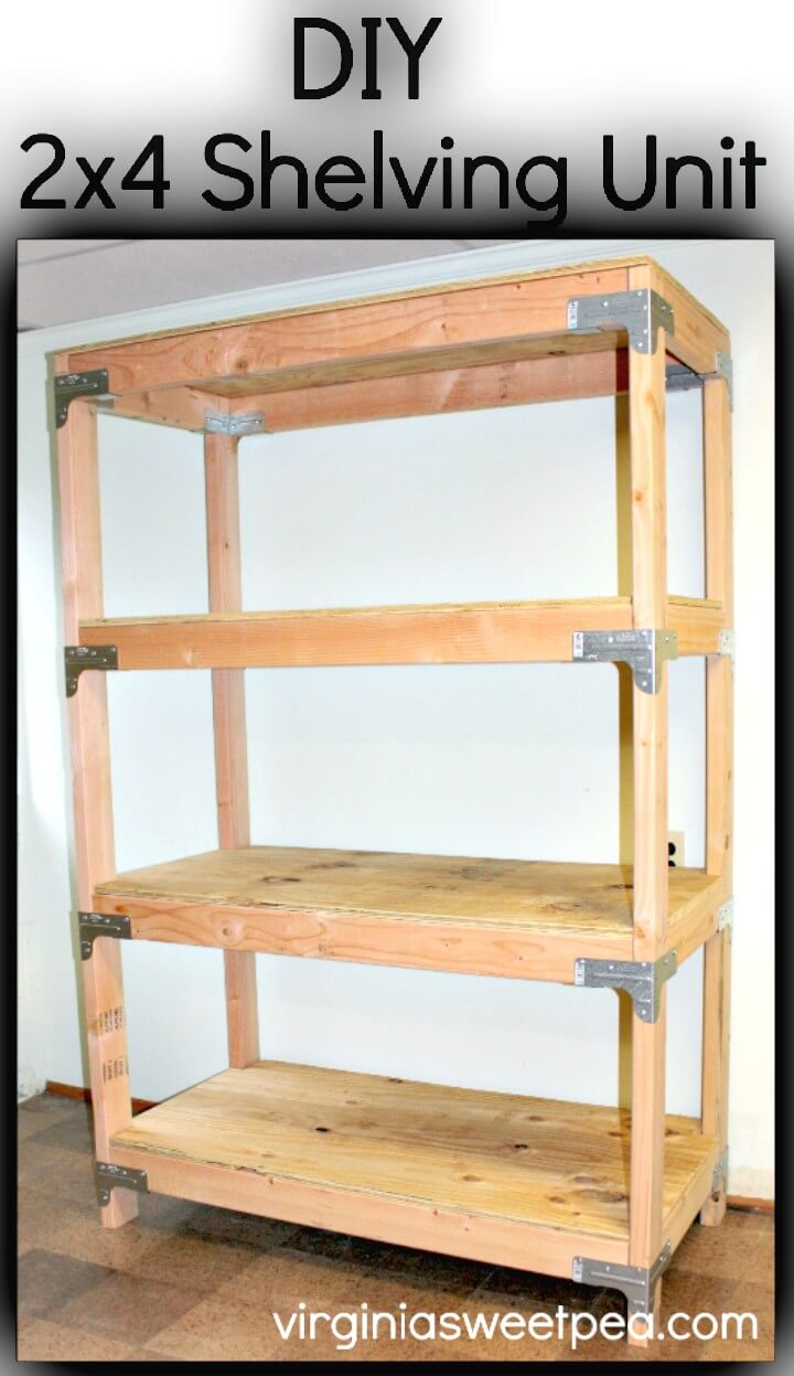 How To Make 2×4 Wooden Shelving Unit - DIY