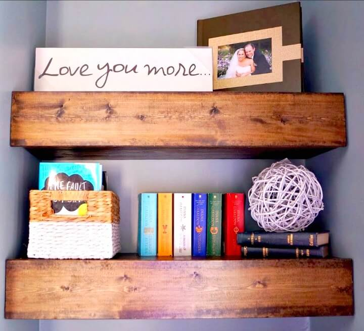 How To Make Chunky Wood Floating Shelves - DIY