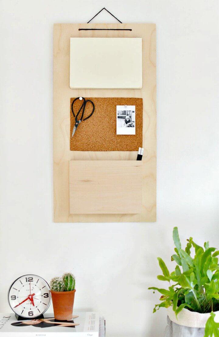 How To Make Hanging Desk Organizer