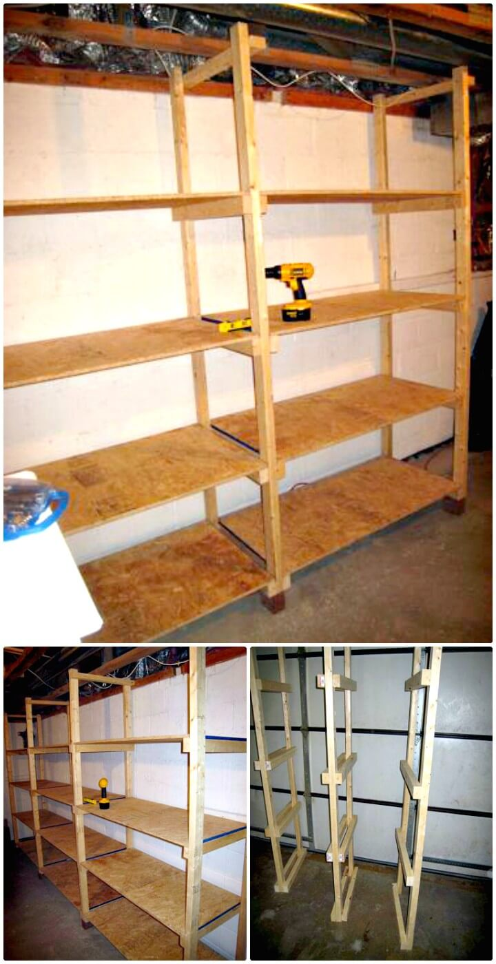 How To Make Inexpensive Basement Storage Shelves - DIY