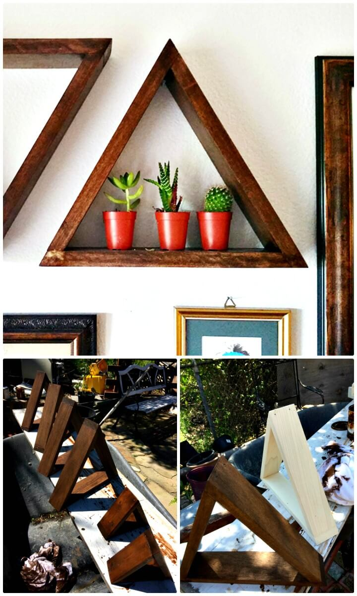 How To Make Wooden Triangle Shelves - DIY
