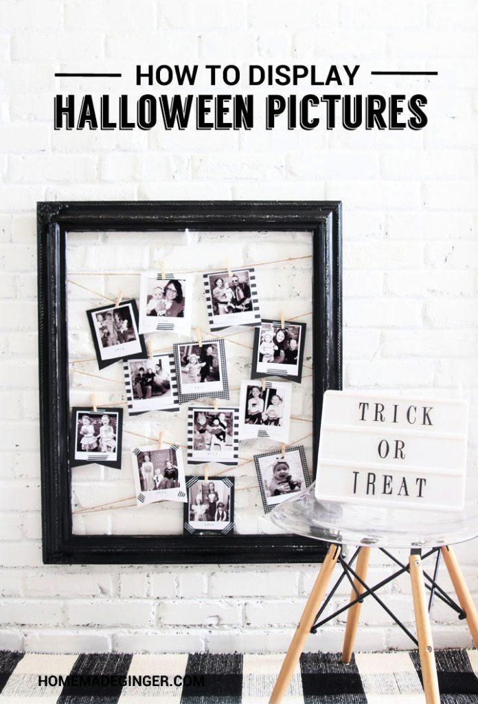 How to DIY Display Halloween Pictures