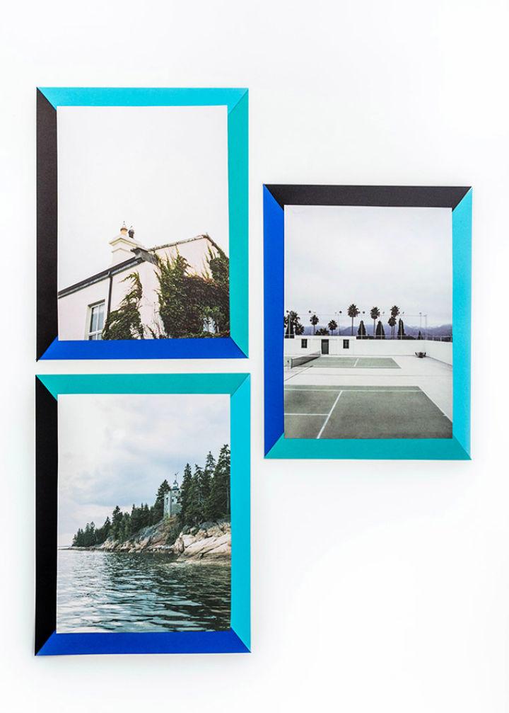 How to Make 2D Color Block Paper Frames