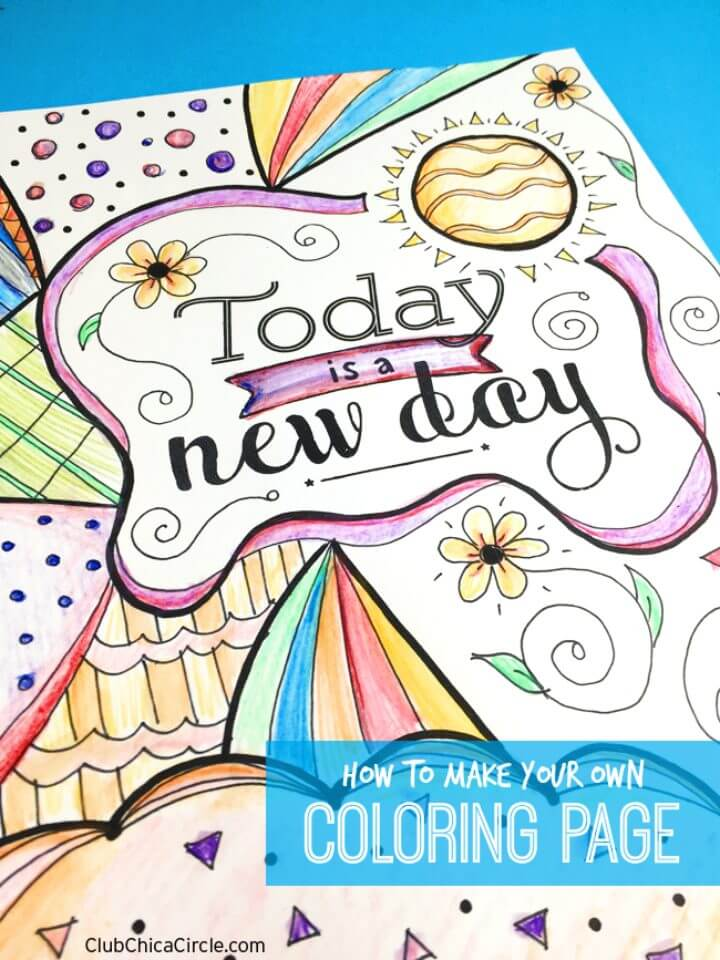 How to Make Your Own Inspirational Coloring Page