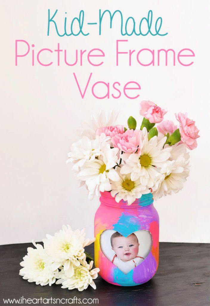 Kid Made Picture Frame Vase