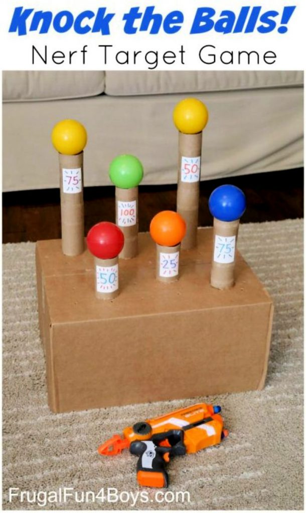 Knock the Balls Down Nerf Target Game