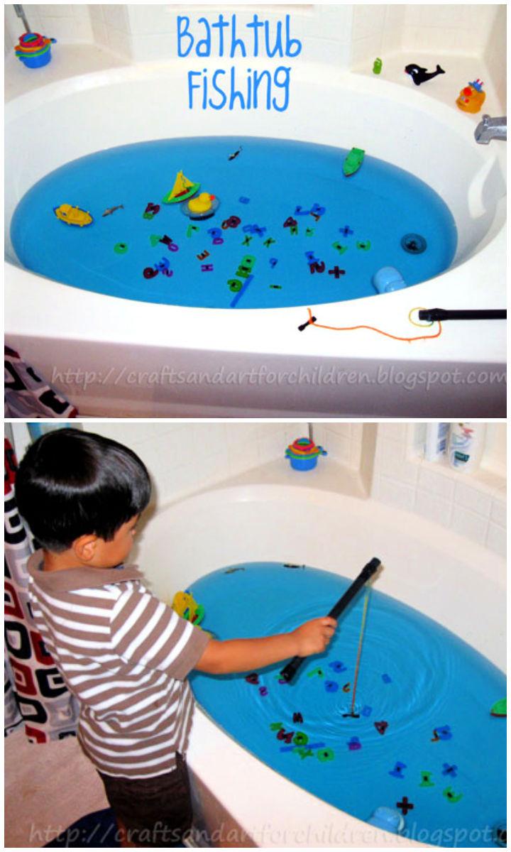 Make Your Own Bathtub Fishing Kids Activity