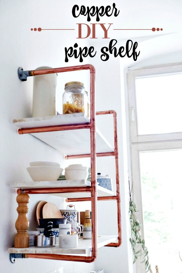 Make Your Own Copper Pipe Shelf - DIY