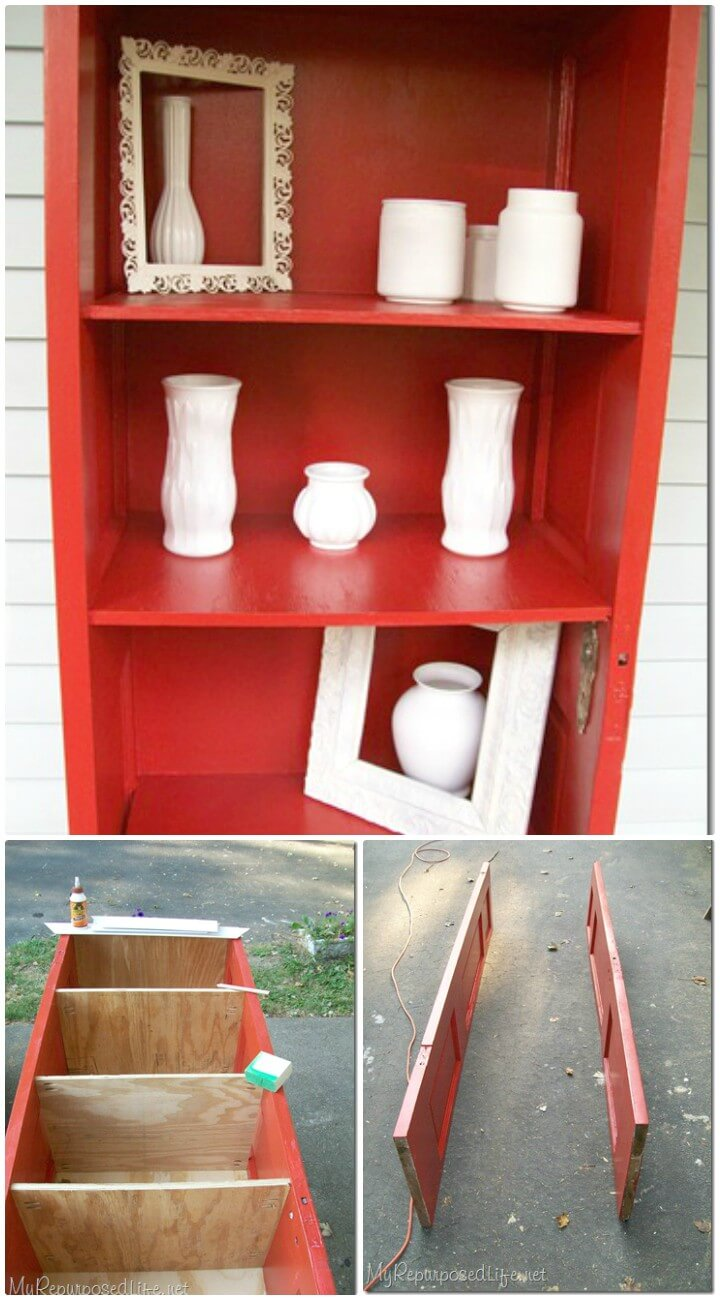 Make Your Own Door Repurposed Bookshelf - DIY