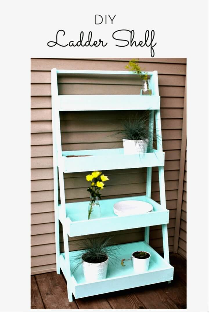 Make Your Own Ladder Shelf - DIY