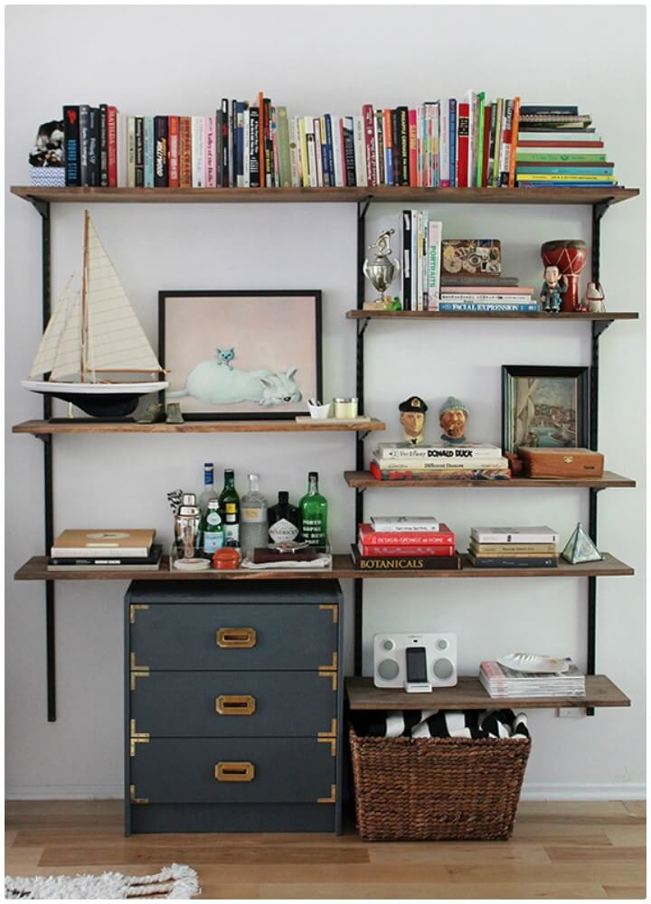 Easy How to DIY Mounted Shelving