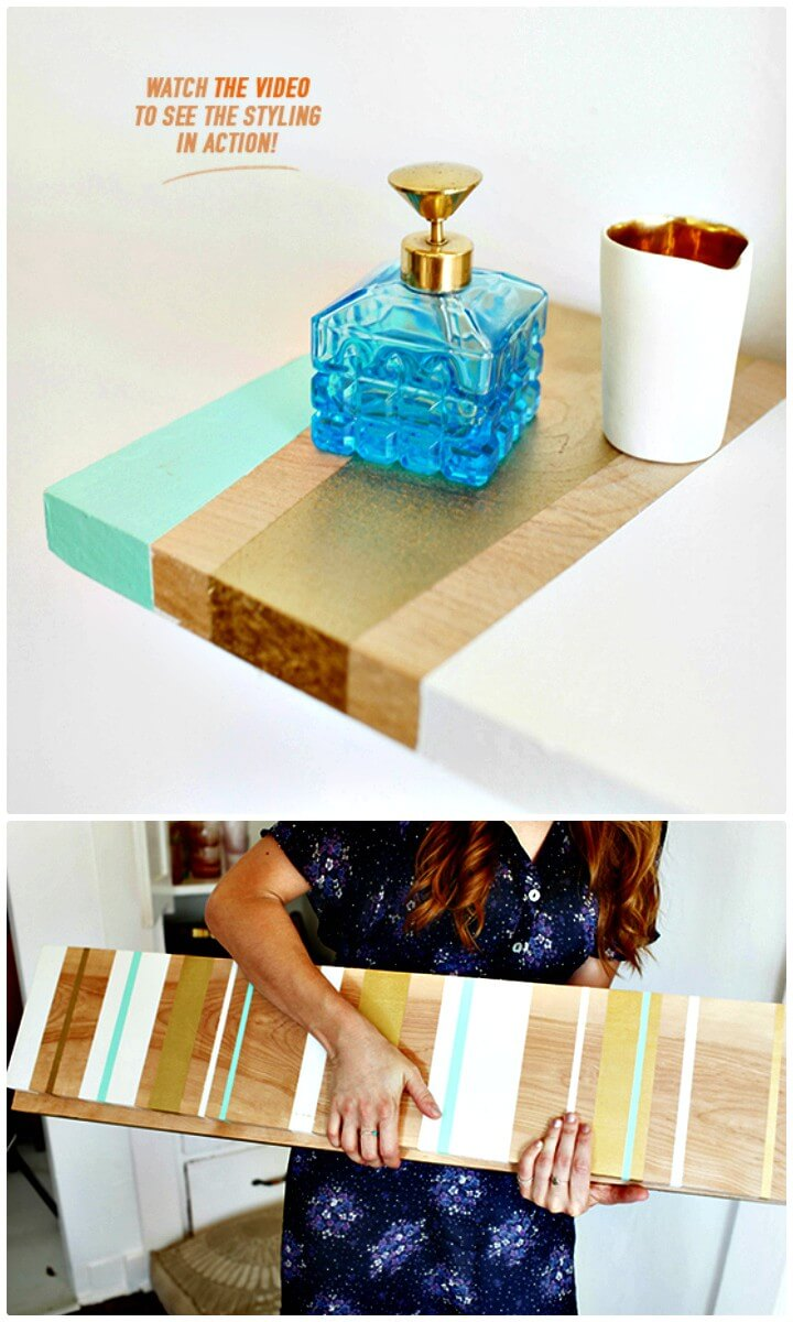 Make Your Own Painted Wooden Shelves - DIY for Home Decor