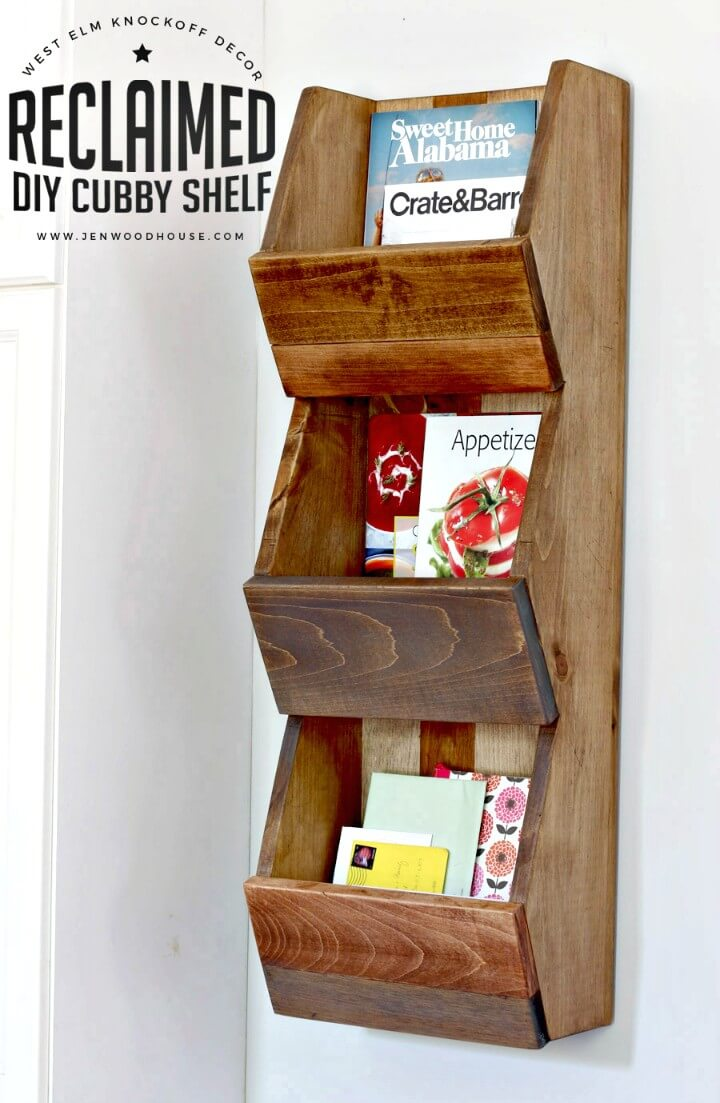 Make Your Own West Elm-inspired Cubby Shelf