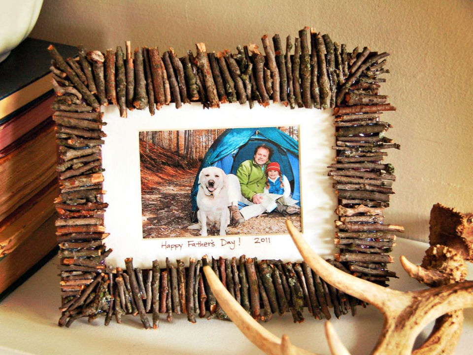 Make a Rustic Frame for Dad