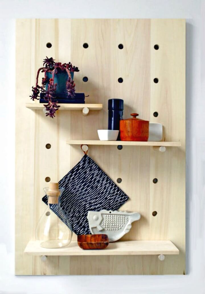 Modern How to Make a Pegboard Shelving System - DIY