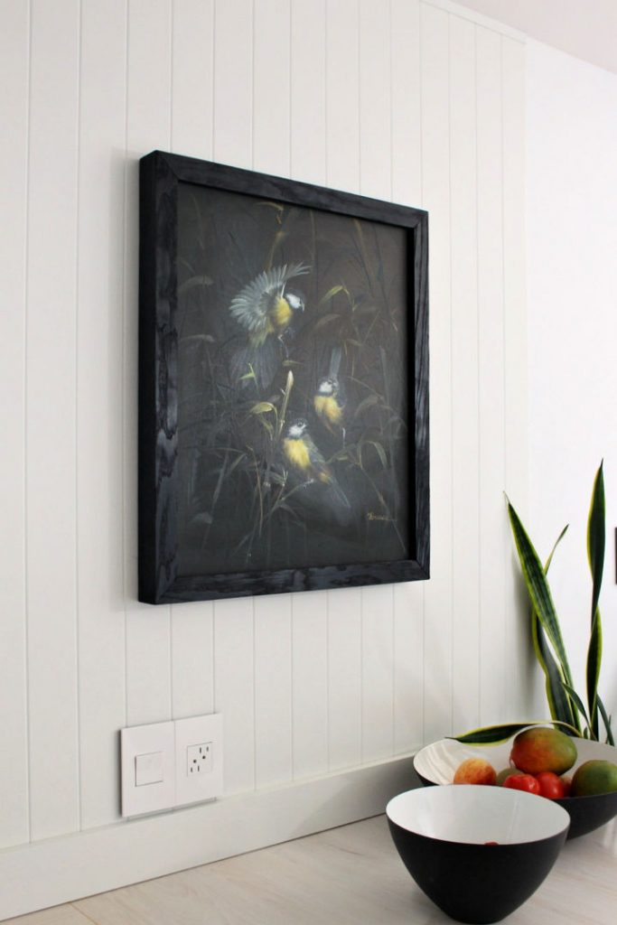 Modern Smaller Wood Burning Picture Frame