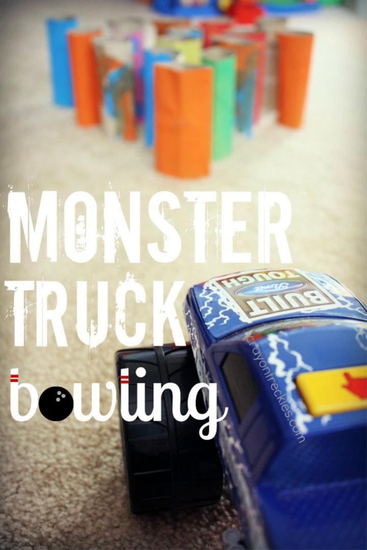 Monster Truck Bowling Kids Activity