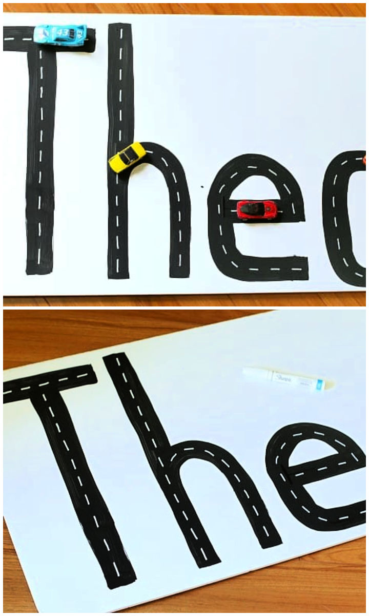 Name Practice Activity Using Toy Cars