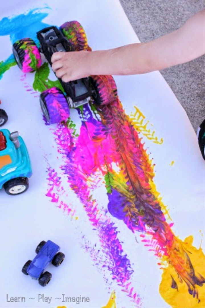 Painting with Trucks Art for Kids