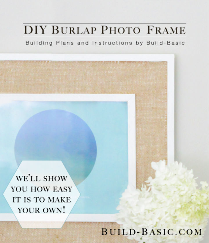 Photo Frame With a Piece Of Burlap