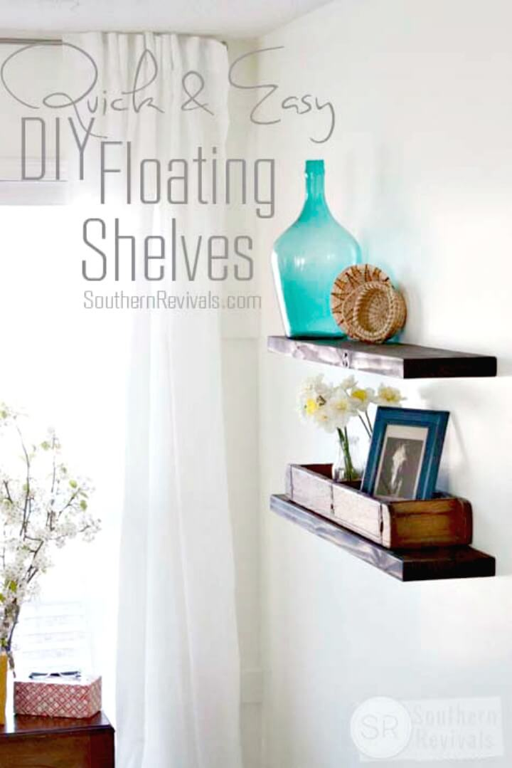 Build A Floating Wooden Shelves - DIY