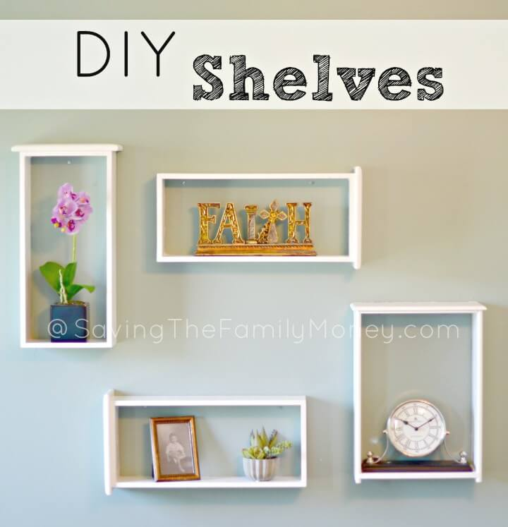 Budget Friendly DIY Wooden Shelves