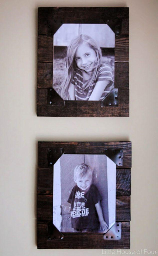 Rustic DIY Pallet Picture Frames