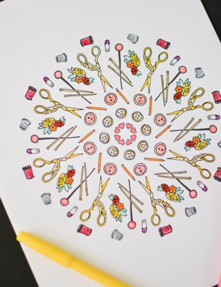 Sewing Coloring Page – Free Printable