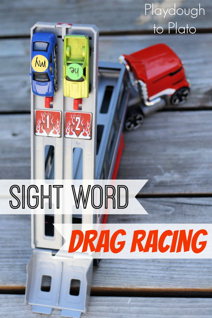 Sight Word Drag Racing for Kids
