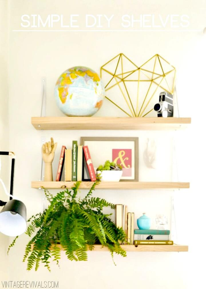 Simple to Build Your Own Wood Shelves