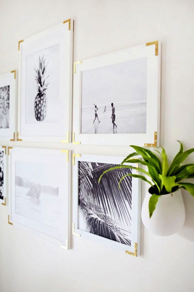 Simple DIY Frames With Gold Hardware
