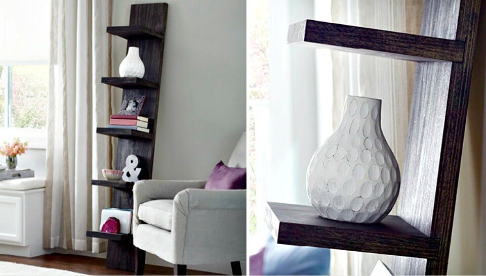 Simple Make Your Own Leaning Shelf - DIY