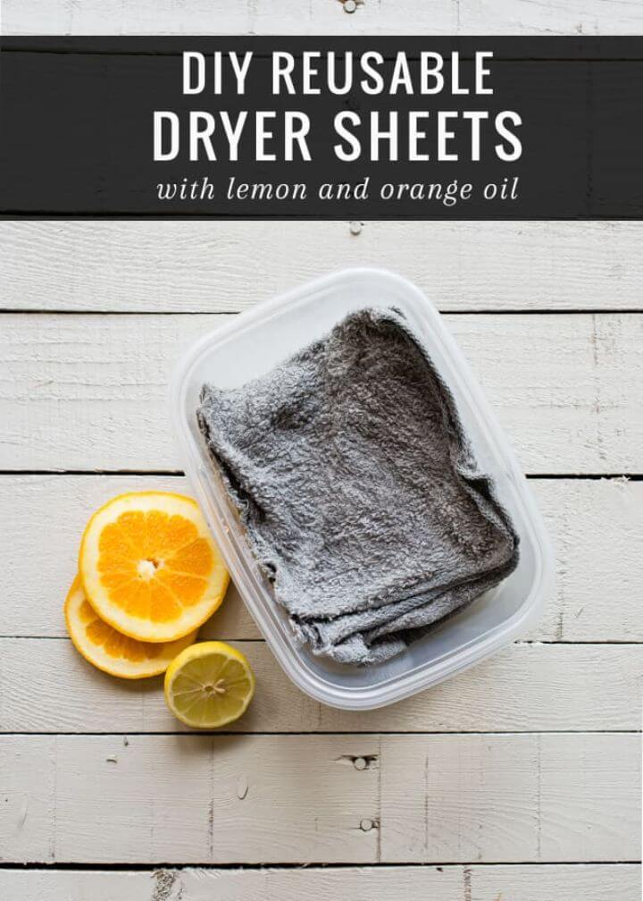 Simplest Way To Make Reusable Dryer Sheets