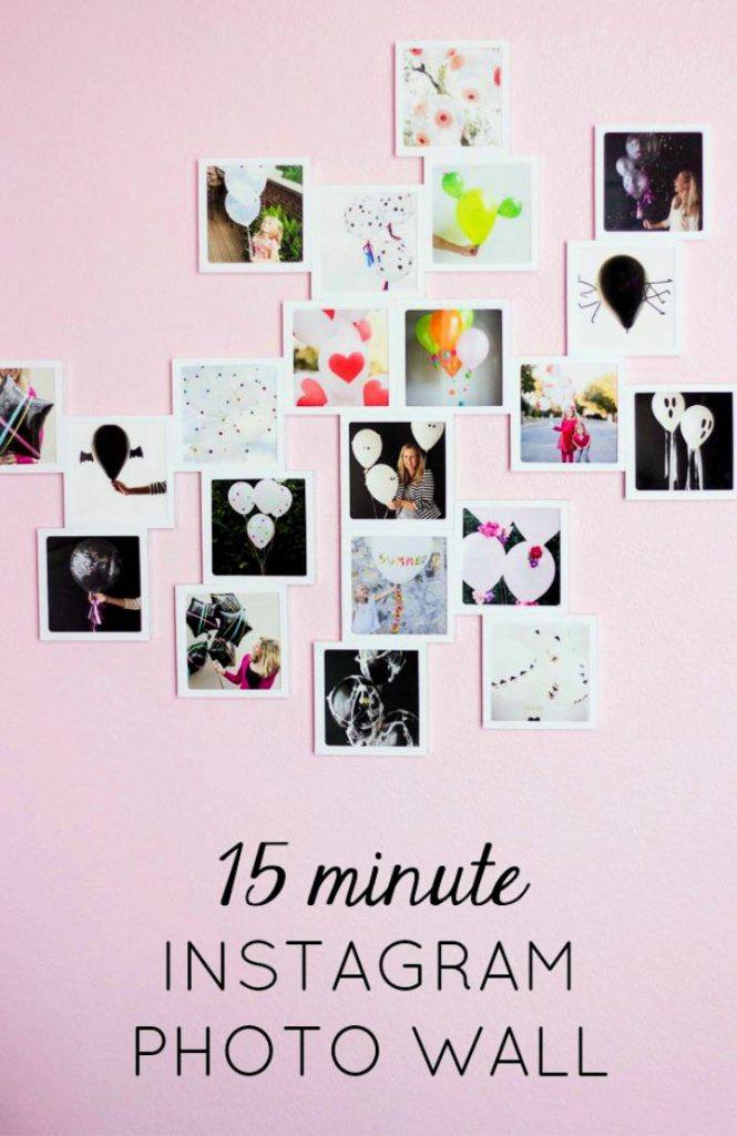 The Easiest DIY Photo Wall Ever