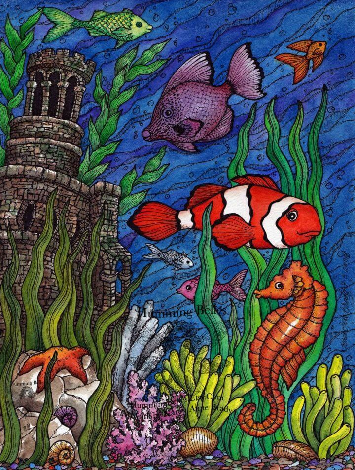 Undersea Illustrations and Coloring Pages