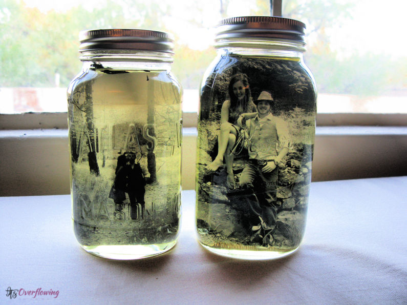 Vintage Pictures and Mason Jars DIY