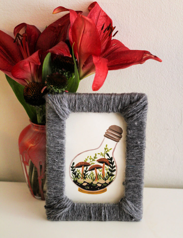 Yarn Wrapped Picture Frames