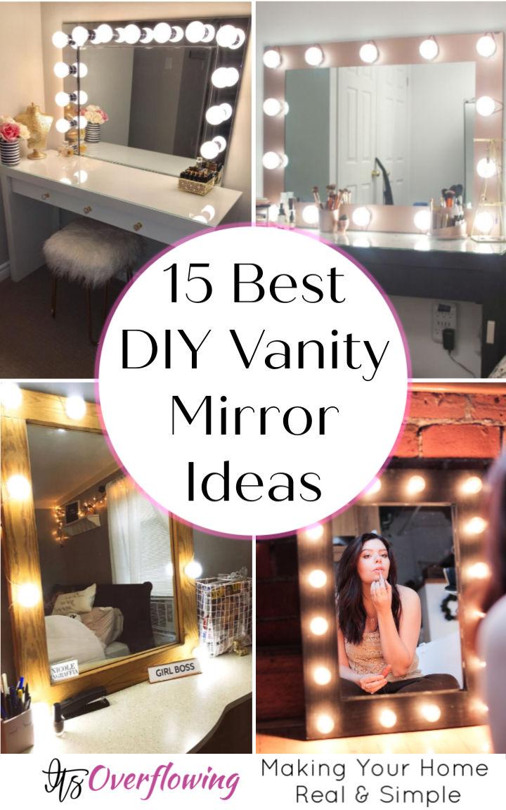 15 Best DIY Vanity Mirror Ideas To Craft Your Own