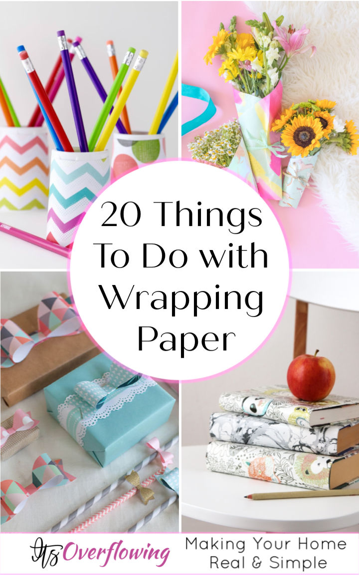 20 Things To Do with Wrapping Paper Paper Crafts