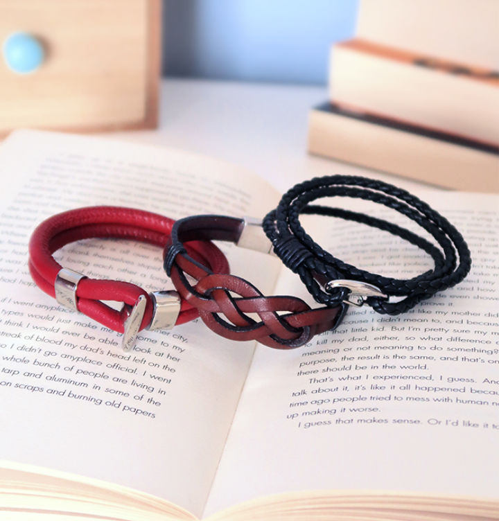 3 Styles Of Leather Bracelets for Guys