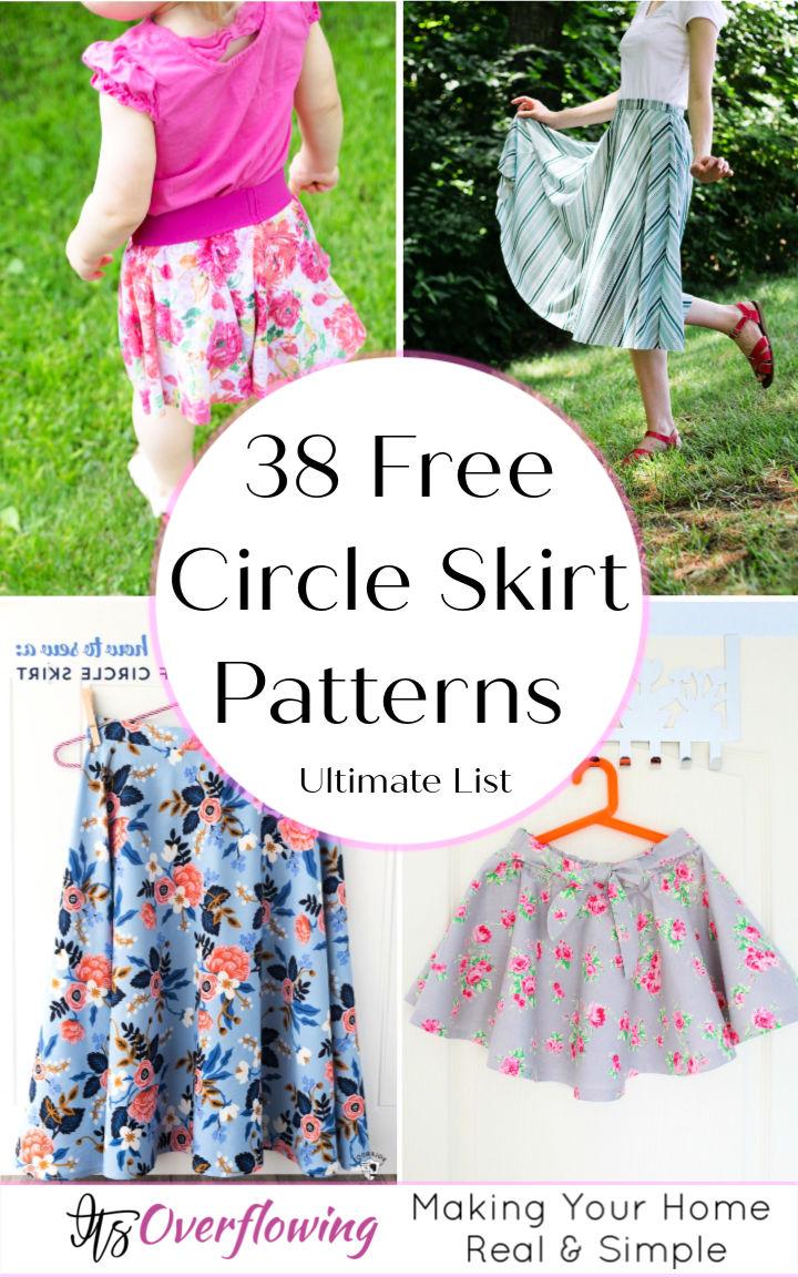 38 Free Circle Skirt Patterns Anyone Can Sew