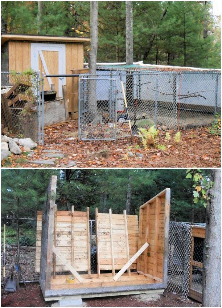 4x8 Wood Pallets Chicken Coop
